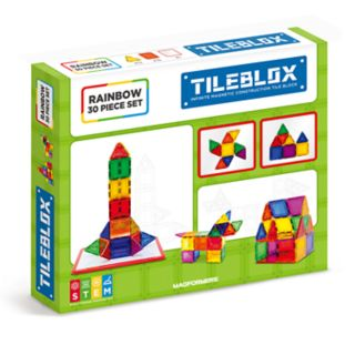 Tileblox Rainbow 30-pc. Magnetic Activity Board Set by Magformers