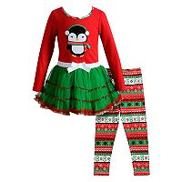 Girls 4-6X Youngland 2-pc. Penguin Dress & Legging Set
