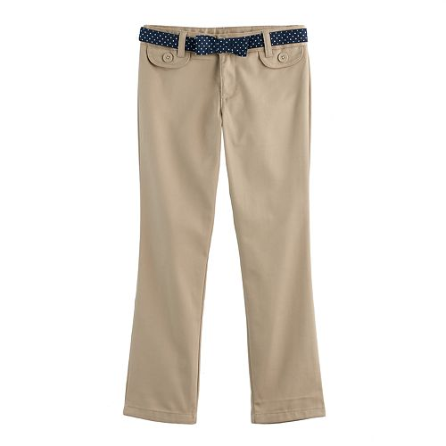 Girls 4-20 French Toast Belted Twill Pants