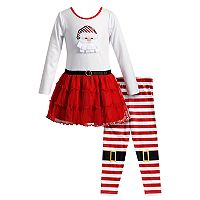 Girls 4-6X Youngland 2-pc. Santa Dress & Legging Set