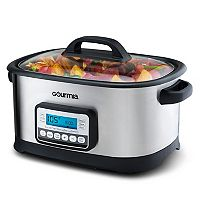 Gourmia 10-in-1 Sous Vide Multicooker with Stainless Steel LCD Display