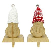 St. Nicholas Square® Gnome Christmas Stocking Holder 2-piece Set