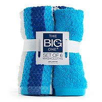 The Big One® 6-pack Solid & Stripe Washcloths