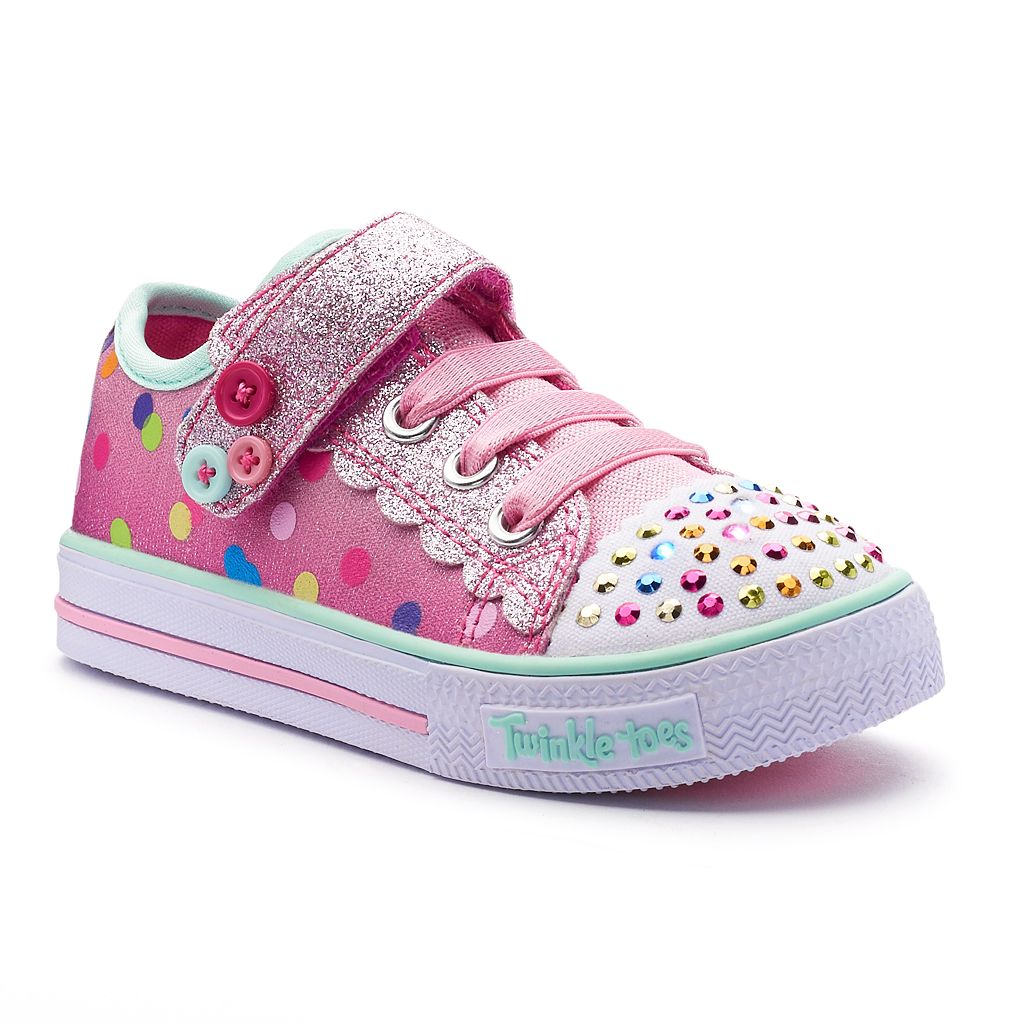 Skechers Twinkle Toes Shuffles Dazzle Dot Toddler Girls' Light-Up Shoes