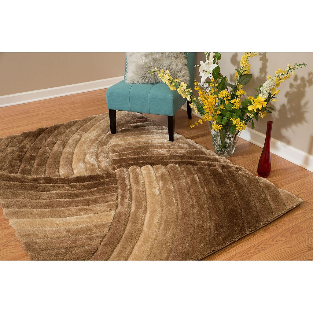 United Weavers Finesse Tourbillion Geometric Shag Rug