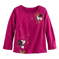 Disney's Minnie & Mickey Mouse Toddler Girl Glittery Graphic Tee by Jumping Beans®