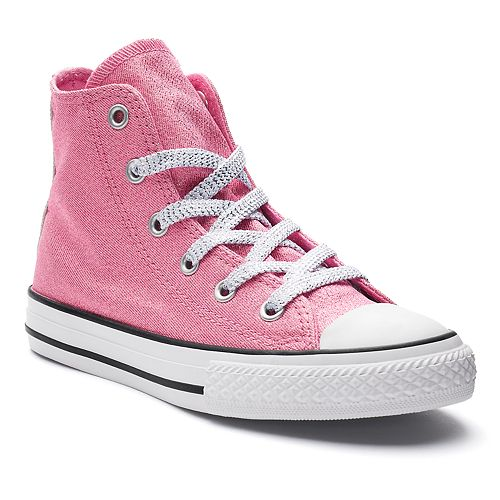 696de8eb8598 Girls  Converse Chuck Taylor All Star Glitter High Top Sneakers
