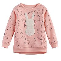 Toddler Girl Jumping Beans® Animal Softest Fleece Sweatshirt