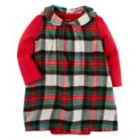 Baby Girl Carter's Plaid Flannel Dress & Bodysuit Set