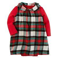 Baby Girl Carter's Plaid Flannel Dress & Bodysuit Set