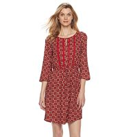 Women's Dana Buchman Drawstring Crepe Dress