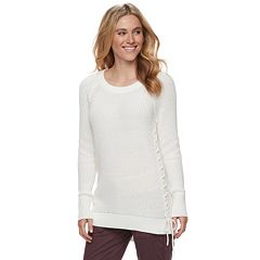 Women's SONOMA Goods for Life™ Lace-Up Crewneck Sweater