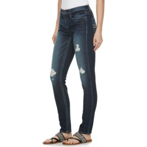 Juniors' Mudd® Ripped Skinny Jeans