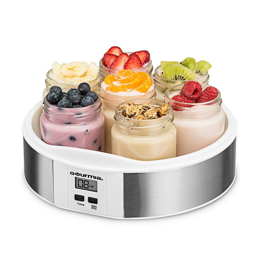 Gourmia Digital Yogurt Maker & 7-pc. Glass Jar Set