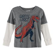 Toddler Boy Jumping Beans® Mock-Layer 'Giants of the Past' Dinosaur Thermal Graphic Tee