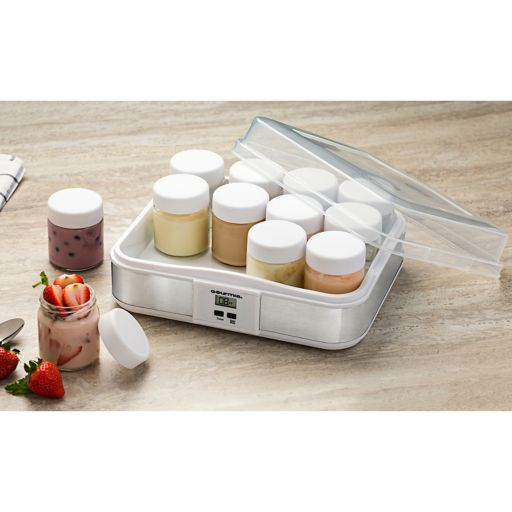 Gourmia Yogurt Maker & 12-pc. Glass Jar Set