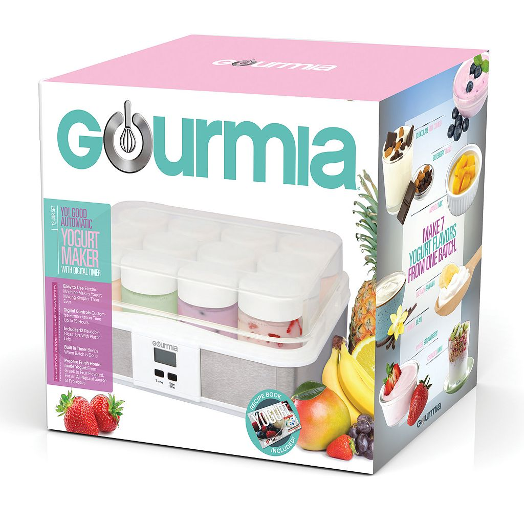 Gourmia Digital Yogurt Maker & 12-pc. Glass Jar Set
