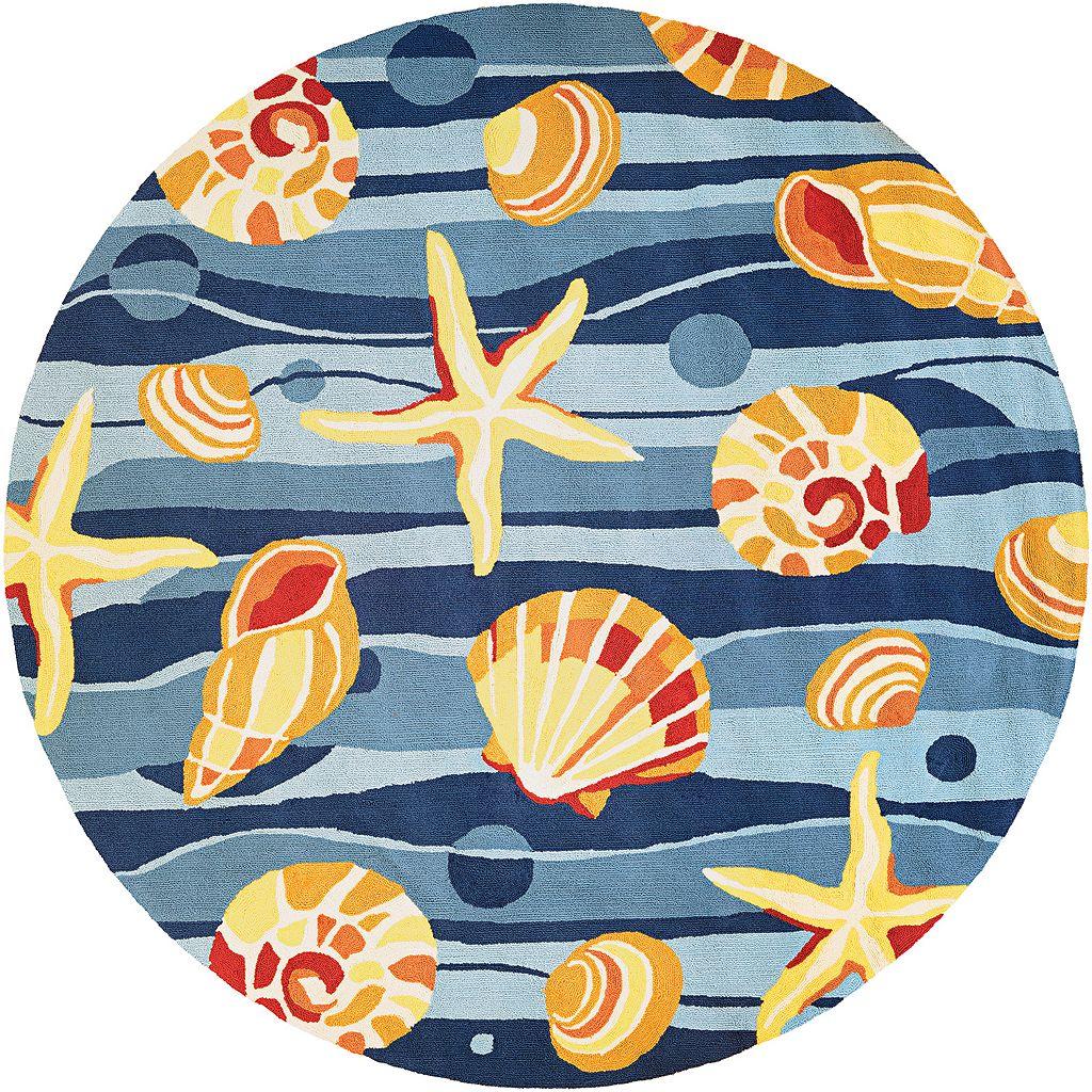 Couristan Beachfront Gold Beach Shell Indoor Outdoor Rug