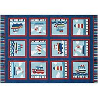 Couristan Beachfront Waldport Patchwork Indoor Outdoor Rug