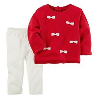 Baby Girl Carter's Bow Accent Pullover & Leggings Set