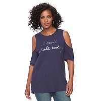 Women's Apt. 9® Cold-Shoulder Graphic Tee