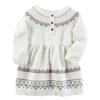 Baby Girl Carter's Patterned Sweater Dress