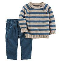 Baby Boy Carter's Striped Sweater & Corduroy Pants Set