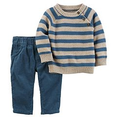 Baby Boy Carter's Striped Sweater & Corduroy Pants Set