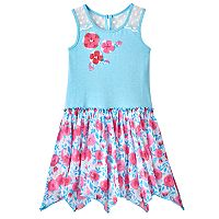 Toddler Girl Nannette Print Hanky-Hem Dress