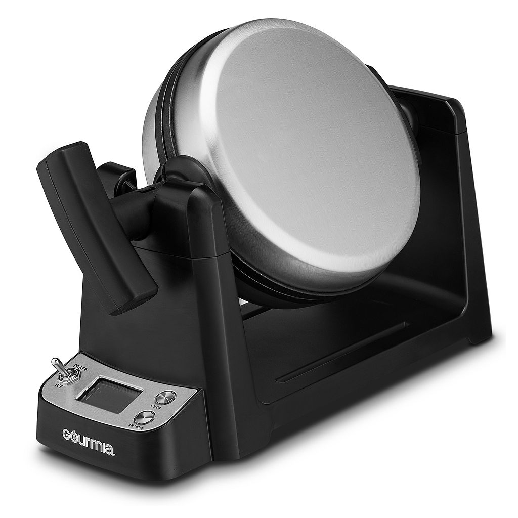 Gourmia Stainless Steel Waffle Maker with LCD Display