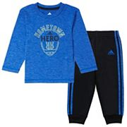 Baby Boy adidas 'Hometown Hero' Football Tee & Pants Set