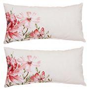 Outdoor 2 pc Reversible Oblong Throw Pillow Set