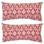 Outdoor 2-piece Reversible Oblong Throw Pillow Set