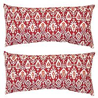 Outdoor 2-piece Reversible Oblong Throw Pillow Set