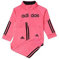 Toddler Girl adidas Linear Tricot Jacket & Jogger set