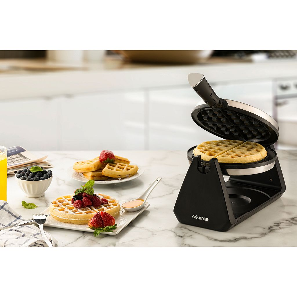 Gourmia Electronic Waffle Maker with Foldable Handle
