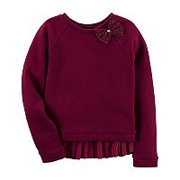 Toddler Girl Carter's Velvet Fleece Swing Top