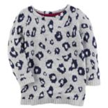 Toddler Girl Carter's Leopard Print Sweater