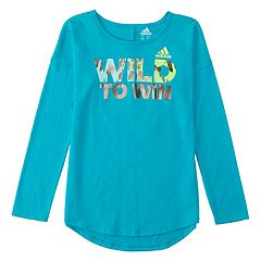 Toddler Girl adidas 'Wild To Win' Graphic Tee