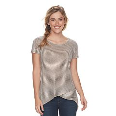 Women's SONOMA Goods for Life™ Striped Keyhole Tee
