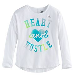 Toddler Girl adidas 'Heart & Hustle' Long-Sleeved Tee