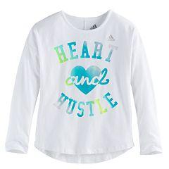 Toddler Girl adidas 'Heart & Hustle' Long-Sleeved Tee