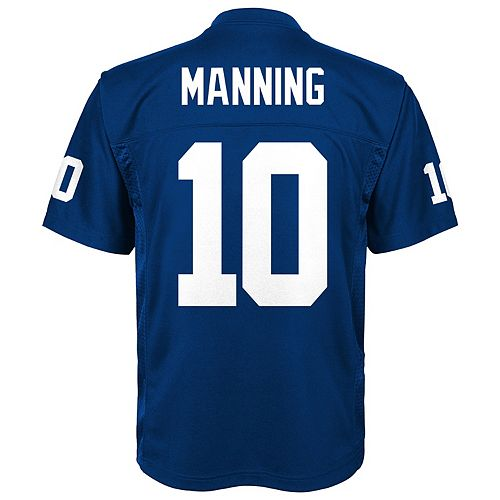 580cfa8aa95 Boys 8-20 New York Giants Eli Manning Replica Jersey