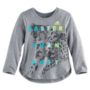 """Toddler Girl adidas """"Faster Than Fast"""" Long-Sleeved Tee"""