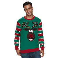 Men's Reindeer Ugly Christmas Sweater