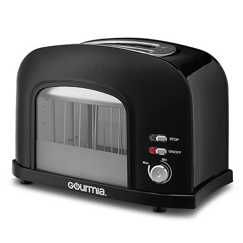 Gourmia 2-Slice Motorized Toaster with See-Through Window