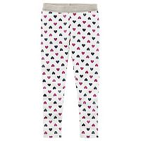 Toddler Girl Carter's Sparkly Heart Print Leggings