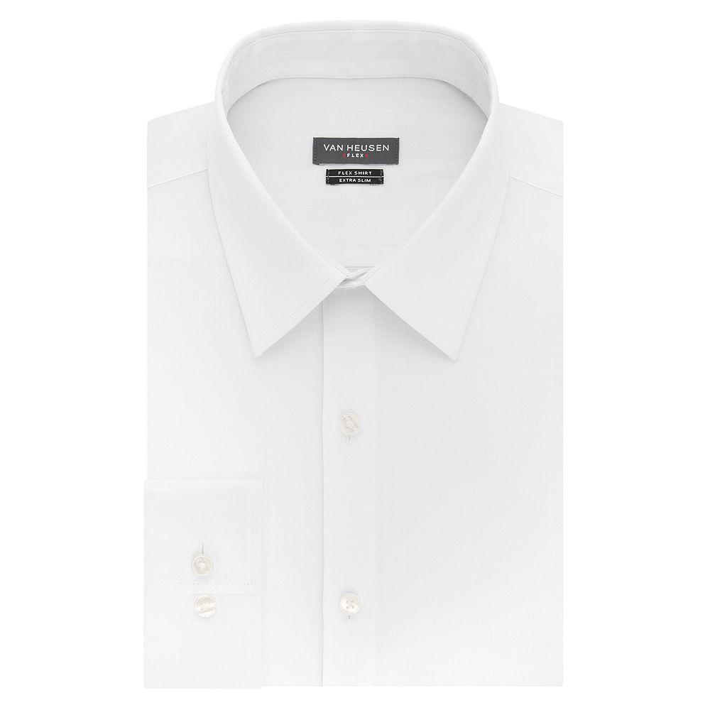 Mens Van Heusen Flex Collar Extra Slim Dress Shirt