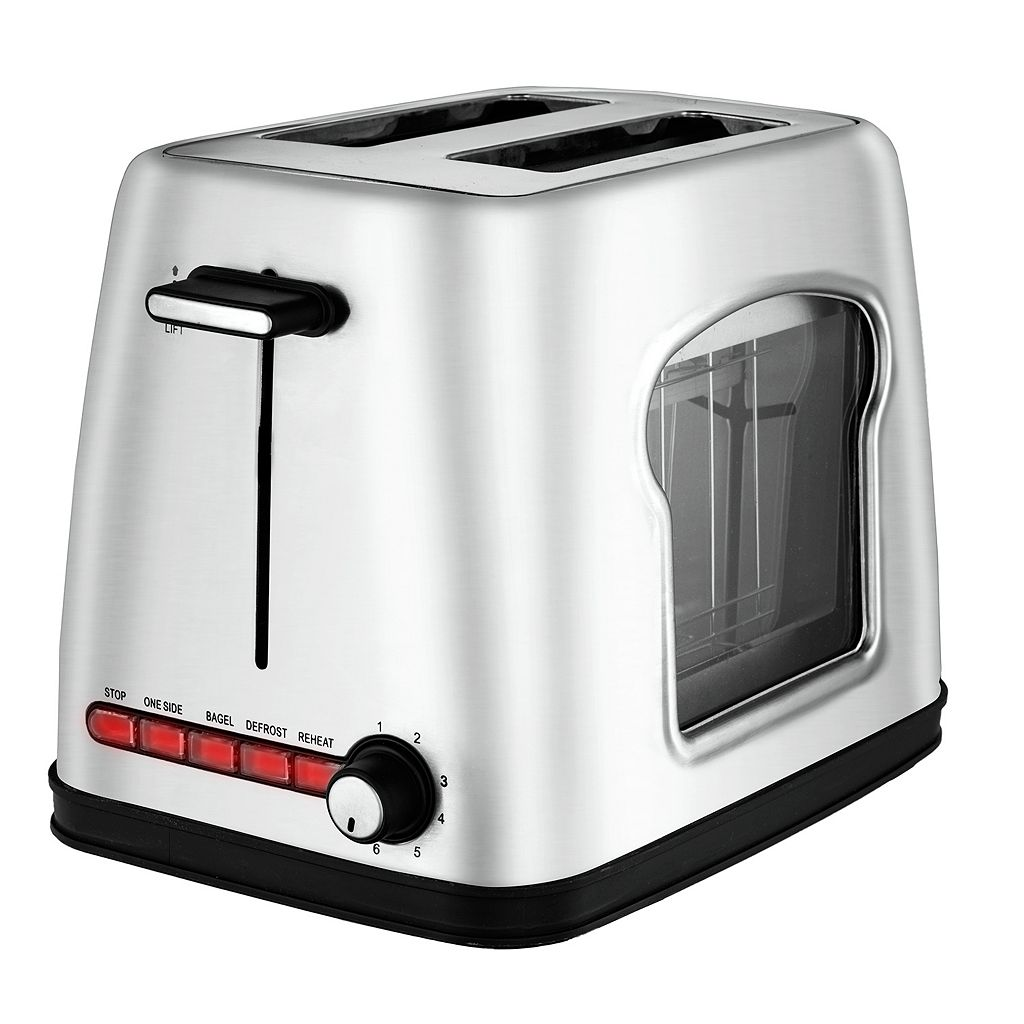 Gourmia 2-Slice Wide Slot Stainless Steel Toaster