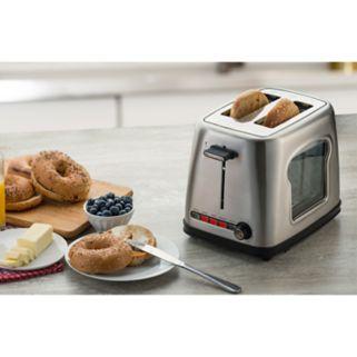 Gourmia 2-Slice Wide Slot Stainless Steel Toaster